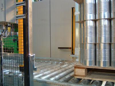 Пример установки барьера ML для однонаправленного контроля на выходе из укладчика поддонов