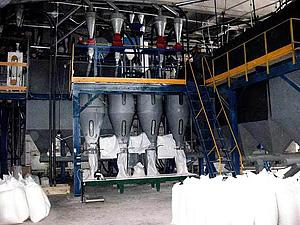 Пуск/остановка потока продукта на мукомольных заводах