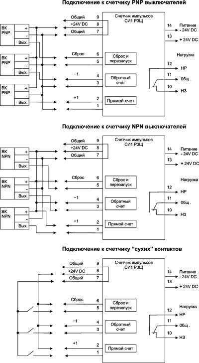 Схема подключения СИ1 Р3Щ