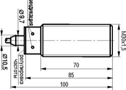 Габаритный чертёж IV11B AF81A5
