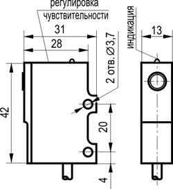 Габаритный чертёж OS OS I35A