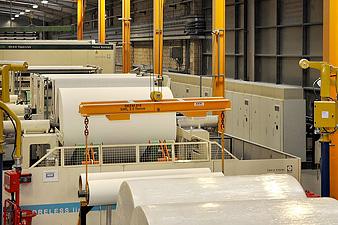 Пуск/остановка потока продукта в целлюлозно-бумажной промышленности