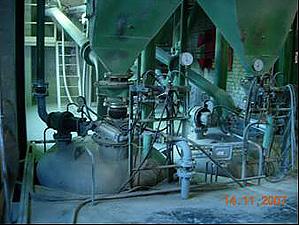 Пуск/остановка потока продукта в цементной промышленности