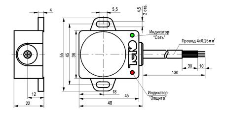 габаритные размеры BH-2K-250-2-25