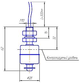 чертёж взрывобезопасного магниточувствительного бесконтактного выключателя MS DUG2S-N-C-0,3