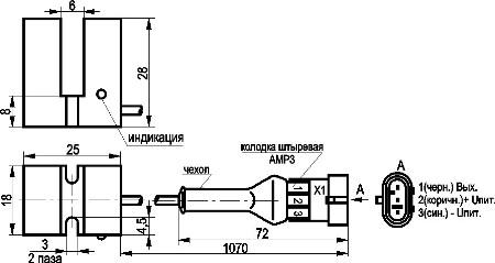 Индуктивные щелевые датчики ISN N2