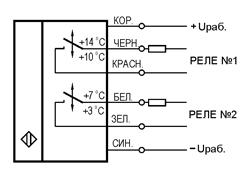 схема подключения Датчики-реле температуры