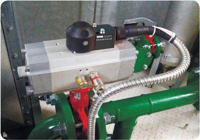 Контроль позиции привода поворотного клапана или задвижки