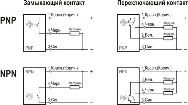 Схемы подключения с внутренней схемой             управления подсветкой